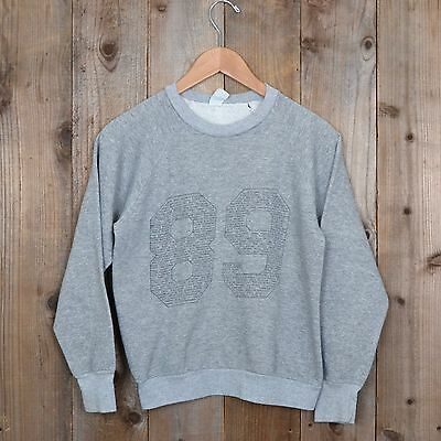 vintage Class of 1989 Crewneck heather gray raglan 80s 90s sweatshirt small