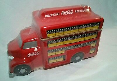 Coca-Cola Brand Cookie Jar by GIBSON Vintage Mid-Century Delivery Truck in wrap