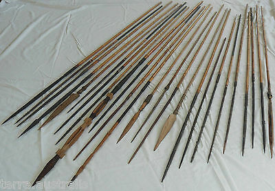 25x Old PNG SPEARS - Bamboo Ceremonial Hunting Papua New Guinea Pacific Island