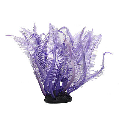 Purple Artificial Fake Coral for Fish Tank Decoration Ornament I4S2