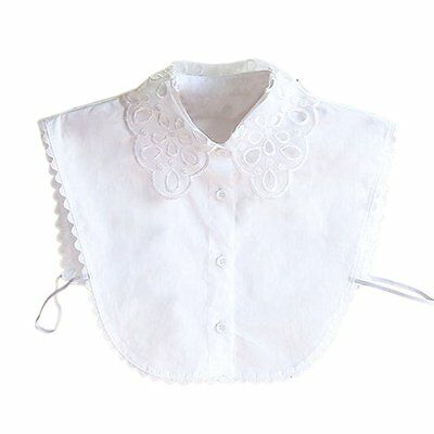 New Women Blouses Fake Collar Half Shirt Detachable False Collar (White) X1M4
