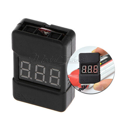 BX100 1-8S Lipo Li-ion Battery Voltage Tester Monitor Low-Voltage Buzzer Alarm