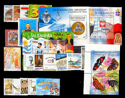 URUGUAY 2003 Year Collection on 2 Pages Cat £458 U/M NB247
