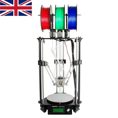 GEEETECH 3D printer Delta Rostock Kossel 3-in-1-out Hotend Mix color