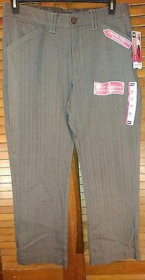 New Lee Women's Nomad Brown/tan 14Petite Relaxed Fit Straight Leg Stretch Slacks