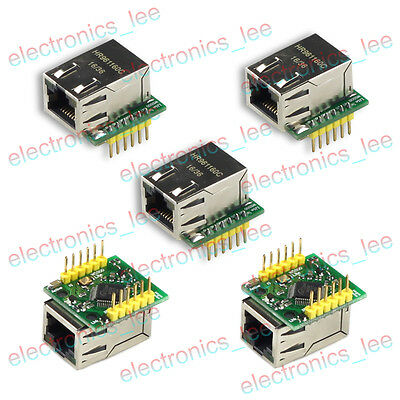 5pcs W5500 TCP/IP Ethernet Module Compatible with WIZ820io 80mhz SPI Interface