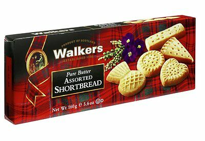 Walkers Pure Butter Scottish Assorted Shortbread 160g - Made in Scotland
