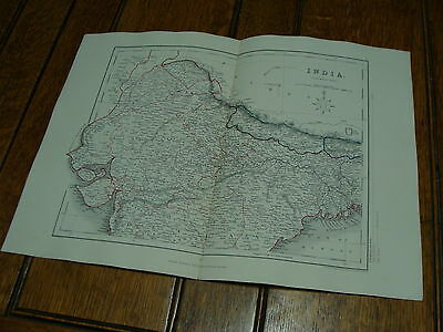 1850's appletons modern atlas engraved by J. Archer-----INDIA northern part