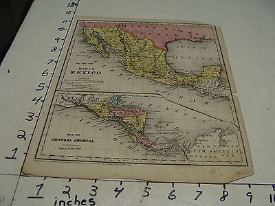 vintage 1853 map--MAP OF MEXICO & CENTRAL AMERICA