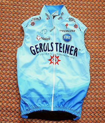 Gerolsteiner, Cycling wind vest by Nalini, Mens Small, 2, Wind Tex, Team Issue