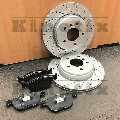 for BMW X6 E71 E72 35d Front Kinetix Cross Drilled Brake Discs & Pads Set 365mm