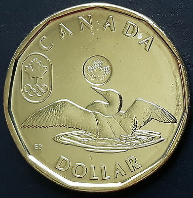 CANADA 2012 CANADIAN OLYMPIC LUCKY LOONIE 1 One Dollar COIN.