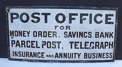 Antique Post Office Post Box Enamel Large Sign - 66cm by 43cm