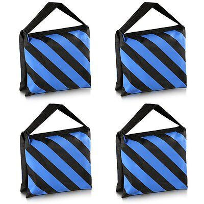 Neewer Set of Four Black/Blue Heavy Duty Sand Bag Photography Studio Video Stage