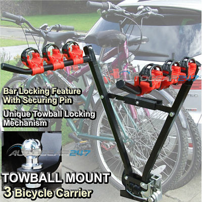 SW Car 4x4 Hatchback Saloon Tow Ball Mount 3 Bike Cycle Carrier Holder Rack. CC5