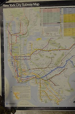 1987 Subway Map.Nyc Subway Map 1987 Mta Historic Map 28x24
