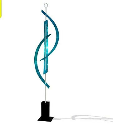 Statements2000 Metal Sculpture Large Abstract Aqua Blue Garden Art by Jon Allen