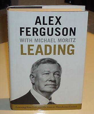 Manchester United Alex Ferguson Leading Book Hand Signed Autographed Edition