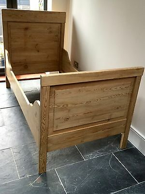 Childs Rustic French Pine Sleigh Bed