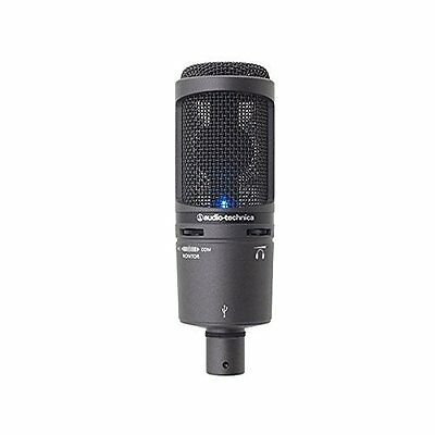 Audio-Technica Back Electret Condenser Type USB Microphone AT2020USB+ From Japan