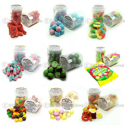 SWEET VENDING REFILL 81 X 53mm POTS: 9 X 9 VARIETIES INCLUDING ALL LABELS.