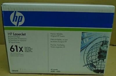 2 New Genuine Factory Sealed HP 61X Toners in Dual Pack Bright Blue and Wht Box