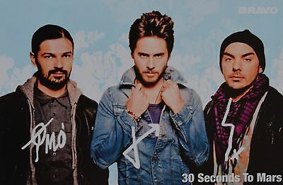 30 SECONDS TO MARS - Autogrammkarte - Autograph Autogramm Jared Leto Clippings