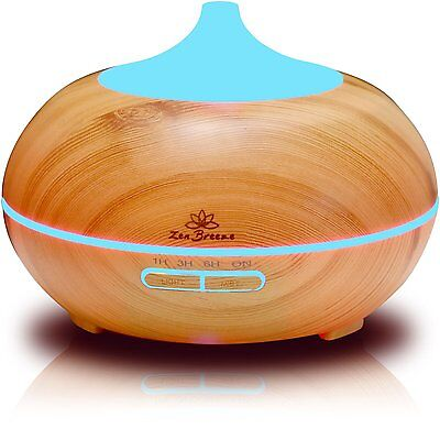 Diffuser, Essential Oil Ultrasonic LED Humidifier, Aromatherapy - Zen Breeze