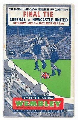 1952 - Arsenal v Newcastle United, FA Cup Final Match Programme.
