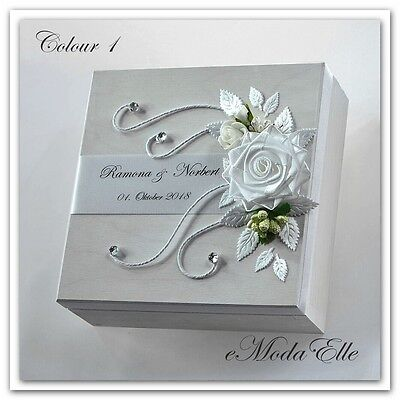 Personalized! wedding ring cushion box  with rings holder box 30 color
