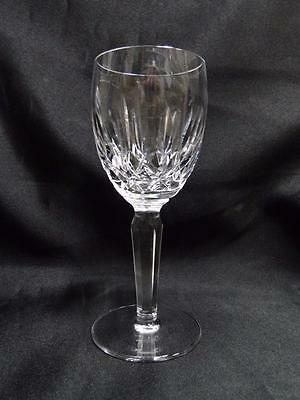 """Waterford Crystal Kildare, Vertical & Criss Cross Cuts: Claret Wine, 6 1/2"""" Tall"""