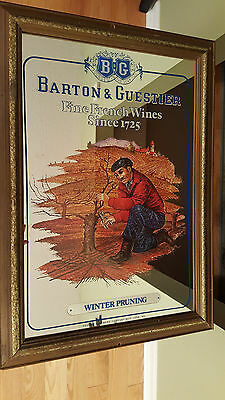 Vintage Barton & Guestier French Wine Adverstising Mirror