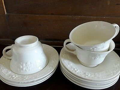 Lot 11: 3 HOMER LAUGHLIN THEME EGGSHELL DEMITASSE CUPS & 8 SAUCERS