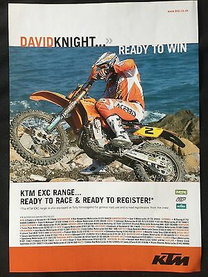"KTM EXC RANGE # ORIGINAL MOTORCYCLE ADVERT # 11"" x 8"""