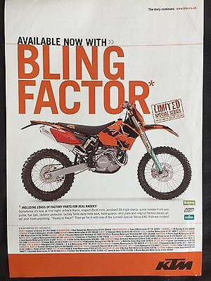 "KTM 450 EXC # ORIGINAL MOTORCYCLE ADVERT # 11"" x 8"""