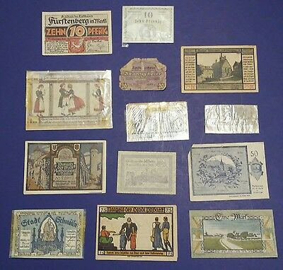 Old Germany town paper money Currency PFENNIG Mark MIXED LOT (B)