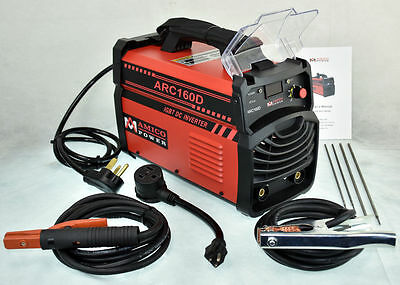 ARC-160D 160 Amp Stick ARC MMA DC Inverter Welder 110/230 Dual Voltage Welding