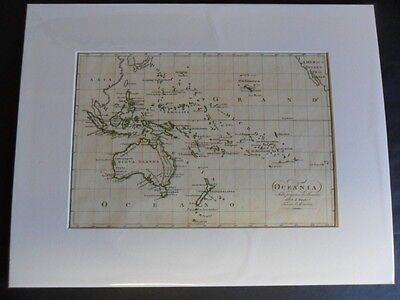 map of OCEANIA 1819 by Borghi a fully mapped New Holland & Van Diemens Land