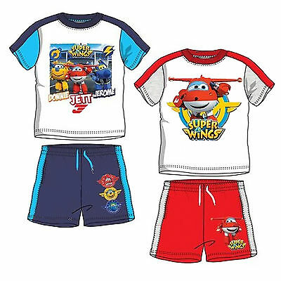Completo t-shirt pantaloncini SUPER WINGS 3 4 5 6 Anni Bambino Estate 2017