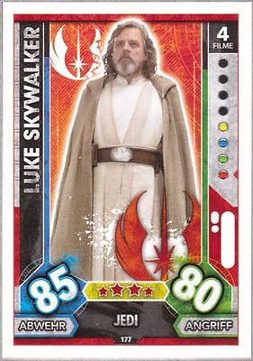 Topps Star Wars Force Attax Universe Karte Nr.177 Luke Skywalker