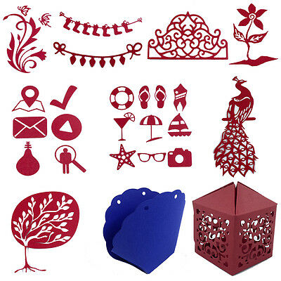 New Box Metal Cutting Dies Stencil Scrapbooking Album Paper Card Embossing Craft