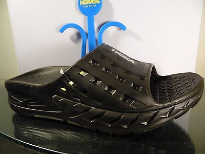 Men's Hoka One One Ora Recovery Slide Sandals US Size Black