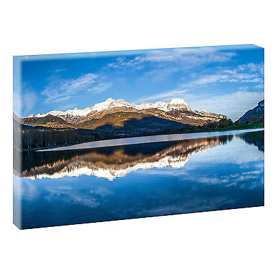 bergsee sepia bild berge natur keilrahmen leinwand poster xxl 120 cm 80 cm 523 eur 32 78. Black Bedroom Furniture Sets. Home Design Ideas