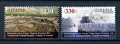 Armenia 2016 MNH Ancient Capitals Bagaran Vagharshapat 2v Architecture Stamps