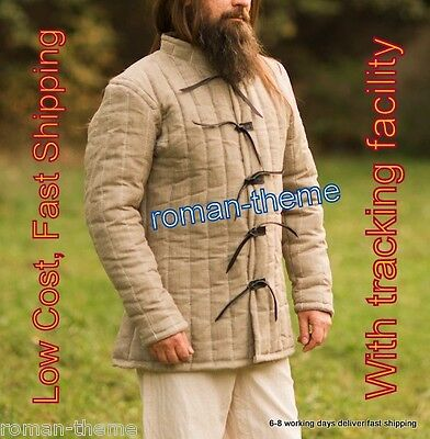Medieval thick Padded collectables CAMEL COLOR armor Gambeson reenactment LARP