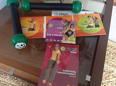 Complete Zumba Fitness c/w dvd's weights sealed book