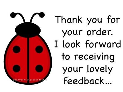 Ladybird Ladybug Personalised Sticky Address Labels Craft Stickers