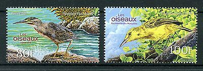 French Polynesia Tahiti 2016 MNH Birds 2v Set Herons Reed Warblers Stamps