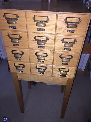 Library Index Drawers Plus Stand