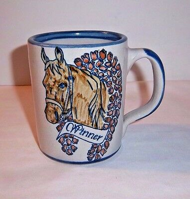 Horse Winner Louisville Stoneware Race Mug Rose Wreath Racing Champion Pottery